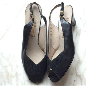 Salvatore Ferragamo Leather Sandals shoe slingback